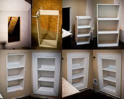 ... Premade Built In Bookshelves Floor To Ceiling Bookcase Kits Remarkable  Bathroom Built In ...