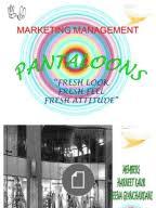 Management Thesis of Customer Perception on Pantaloon Pantaloons project on marketing