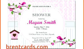 Bridal Shower Template Mesmerizing Free Invitation Templates For Word 48 Bridal Shower Agenda Template