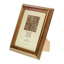 8 x 6 speckled gold wooden photo frames