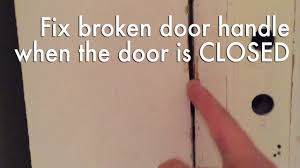 Open a door that is stuck CLOSED because the knob doesn't work ...
