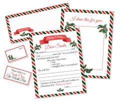 Free santa letter printable envelope and liners printable crush : Letter To Santa Printable Kit Santa Claus Letter Template With Envelope