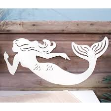 decor sea chic mermaid silhouette metal sign die cut zoom on die cut metal wall art with sea chic mermaid silhouette metal sign beach decor retroplanet