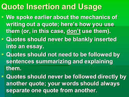 essay tips for the rest of your life feraco myth to science 21 quote insertion