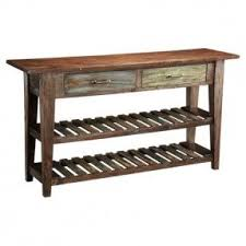 Sofa table with wine storage Barn Beam Autumn Entertaining Courtland Console Table Foter Console Table With Wine Rack Ideas On Foter