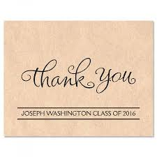 Graduation Thank You Note Kraft Graduation Personalized Thank You Note Cards