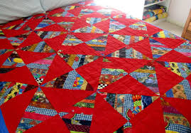 Faith, Folklore, and Friends: String Quilt/Windmills & Yesterday, I finished machine quilting this string quilt with red fabric. I  made the quilt top a couple of years ago by piecing large string blocks, ... Adamdwight.com