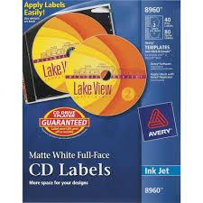 Avery Cd Labels Lengthcircle Inkjet White 40 Pack