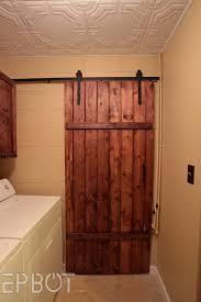 Barn door closet door Bedroom Closet Epbot Epbot Make Your Own Sliding Barn Door For Cheap