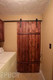 make your own sliding barn door for
