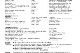 Actor Resume Template 736920 Acting Resumes Examples Resume