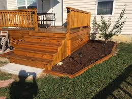 Cabot Semi-Transparent Redwood Stain on an existing Treated Deck ...