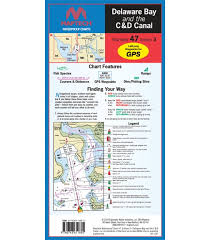 C More Charts Maptech Delaware Bay And The C And D Canal Waterproof Chart 3rd Edition 2018