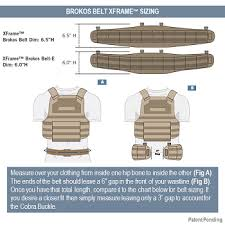 Tyr Tactical Xframe Brokos Belt Spec And Sizing Data
