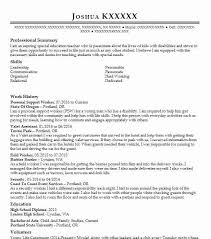 Psw Sample Of Resume And Personal Support Worker Resume Sample Resumes Misc