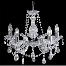 399 5 marie therese 5 light chandelier polished chrome