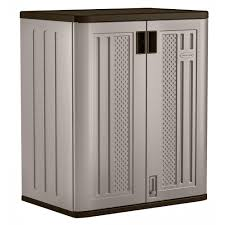 Resin Utility Cabinet Suncast 30 In X 36 In 2 Shelf Resin Base Storage Cabinet In