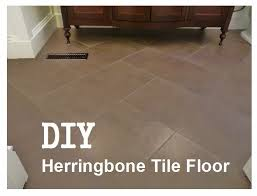 herringbone tile floor. How To Install A Herringbone Tile Floor O