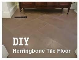 how to install a herringbone tile floor