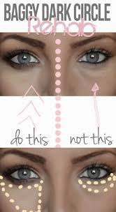 hide dark undereye circles apply the concealer in a pie piece under your eye instead