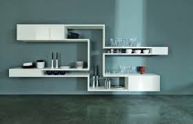 Decorative Kitchen Shelf Furniture Accessories Unique White Brown Wall Mounted Shelving