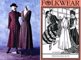 Folkwear Patterns New Folkwear Retro WWI Jacket Jumper Traveling Suit Sewing Pattern 48