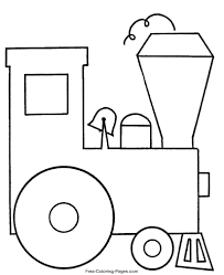 10 train pictures to color. Train Coloring Pages