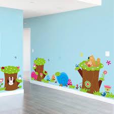 Kids Bedroom Wall Cartoon Childrens Bedroom Wall Decals Cute Owl Animal Wall