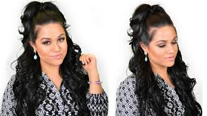 Half Ponytail Hairstyles Khloe Kardashian Half Up High Ponytail Hairstyle Using Clip In