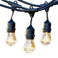 Black Outdoor String Lights Newhouse Lighting 25 Ft Outdoor String Lights Commercial Grade Incandescent Hanging Lights 10 Light Bulbs Included