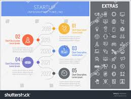 Startup Timeline Template Startup Infographic Timeline Template Elements Icons Stock