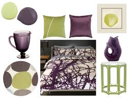 purple and lime green bedroom home design