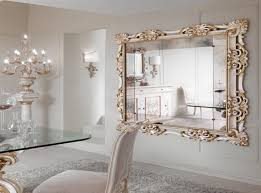 classy inspiration elegant wall mirrors new trends decorating luxury large decorative mirror for white dining room featuring glass table and chairs set