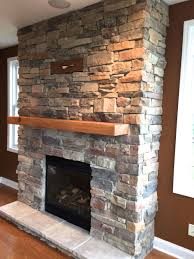 diy stone fireplace1
