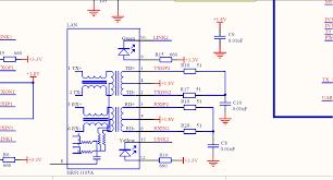 rj 45 with magnetics transformer (ethernet port) connections rj45 wiring diagram at Ethernet Connection Diagram
