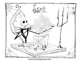 Free Jack Skellington Coloring Pages Jack Coloring Page Print