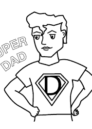 Small Picture Super Fathers Day coloring pages for kids Super Dad birthday