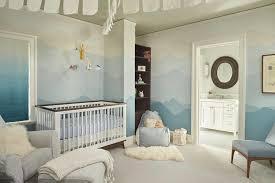 blue boy nursery with blue ombre walls