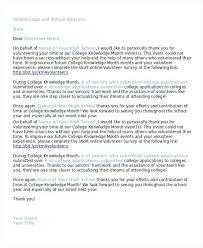 letter for volunteers sample volunteer letter for school iinan co