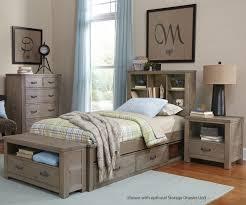 Driftwood Bedroom Furniture 10060 Twin Size Bookcase Bed Highlands Beds Ne Kids Furniture