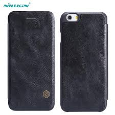 for iphone 6s 6 plus 5 5 flip leather protective case nillkin qin leather case for apple iphone 6s 4 7 plus 5 5 inch cell phones covers design cell