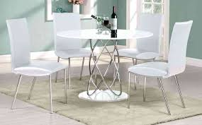 white round extendable dining table small chairs
