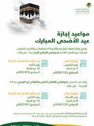 وزارة الموارد البشرية تُحدد إجازة عيد الأضحى المبارك لموظفي القطاعين العام  والخاص بالسعودية