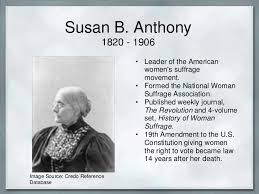 banner powerpoint susan b anthony