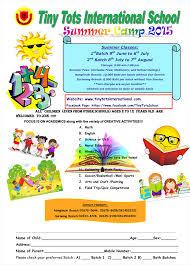 Summer Camp Pamplets Summer Camp 2015 Tiny Tots International School Tiny Tots
