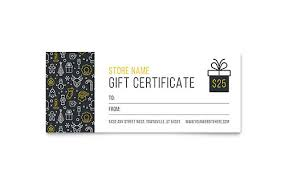 Food Voucher Template Magnificent Gift Certificate Templates InDesign Illustrator Publisher Word
