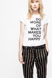 Make You Shirt Skinny Do More T Shirt Womens T Shirt Zadig Voltaire