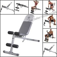Gold Gym Workout Chart Golds Gym Adjustable Slant Workout Weight Bench Exercise Home Workout Ebay