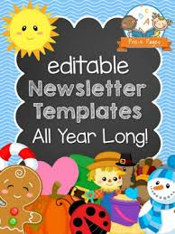 newsletter template for pages classroom newsletters pre k pages