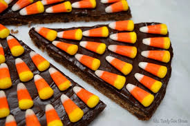 one piece of candy corn. Plain One CANDY CORN COOKIE CAKE Just 3 Ingredients To Make This Eyecatching  Halloween Treat Throughout One Piece Of Candy Corn